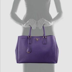 PRADA large saffiano tote in purple